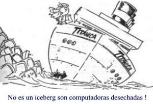 No es un iceberg ... son computadoras desechadas.