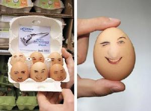 BTL en cajas de huevos
